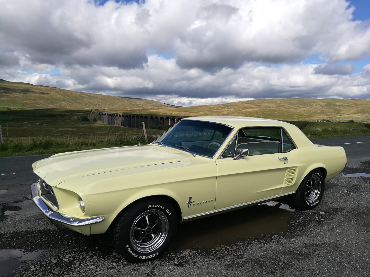 Ford mustang coupe 1967 springtime yellow v8 351